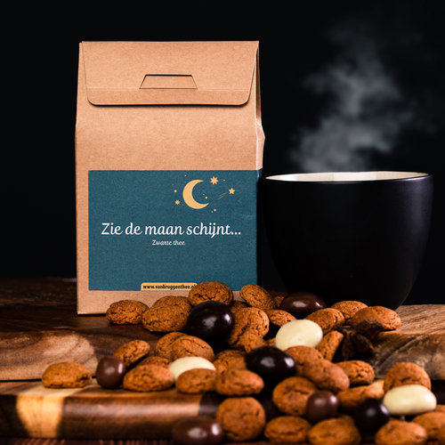 van Bruggen thee Zie de maan schijnt cadeauhuisje losse thee