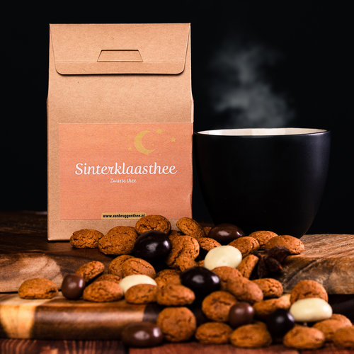 van Bruggen thee Sinterklaasthee cadeauhuisje losse thee