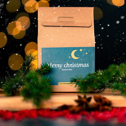 van Bruggen thee Merry Christmas cadeauhuisje losse thee