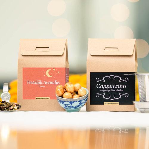 van Bruggen thee Sint cadeauhuisje met chocolade
