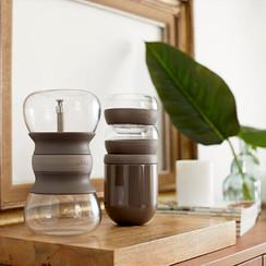 Lékué set met thee infuser, theeglazen en bewaarpot