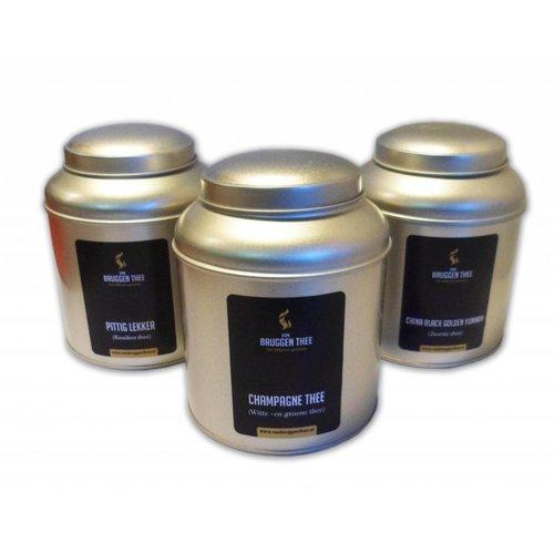Van Bruggen Thee Actie! 3 Bewaarblikken met losse thee