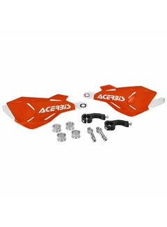 Acerbis HANDSCHALEN X-FACTORY ORANGE/WEISS, INKL. ANBAUKIT