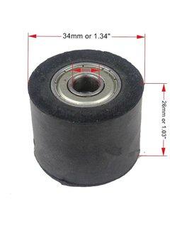 Wingsmoto Gummi Kettenrolle 8 mm / 34 mm