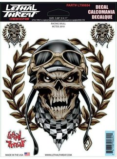 Lethal Threat Stickerset  Racing Skull LT90694