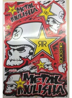 Metal Mulishar Rockstar Sticker Set 1