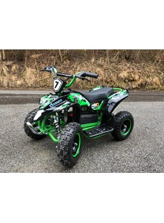 Actionbikes Kinder Elektro Miniquad Fox XTR 1000 Watt Schwarzer Body