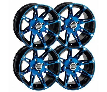 Moose Utility Felgensatz 12 Zoll 387X blau Wheels