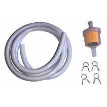 Benzinschlauch 1 m weiss inkl. Benzinfilter und Clips