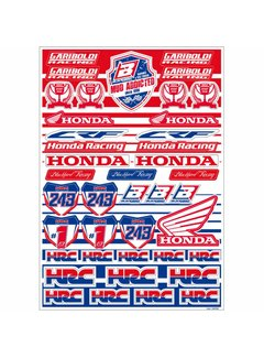 Blackbird Racing Honda Gariboldi Logo Sticker Set