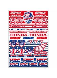 Blackbird Racing Honda Gariboldi Logo Sticker Set