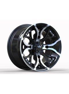 """VBW - tires VBW-A2 14"""" ATV Alufelgen silver/ matt black"""