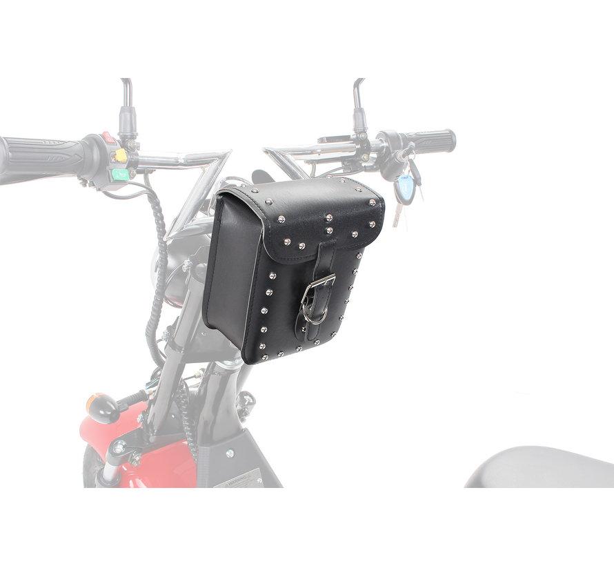 Elektro Scooter 1500 Watt Gepäcktasche Lederoptik vorne