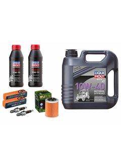 Liqui Moly Großes Wartungsset 4 Liter 10W-40 + Ölfilter HF152 + Zündkerzen + Getriebeöl für Odes Marder 850