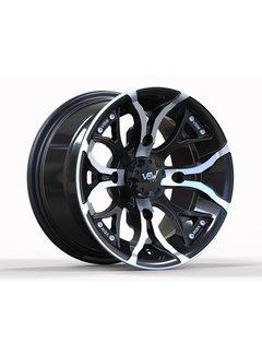 """VBW - tires A2 ATV 12"""" Alufelgen silver/ matt black"""
