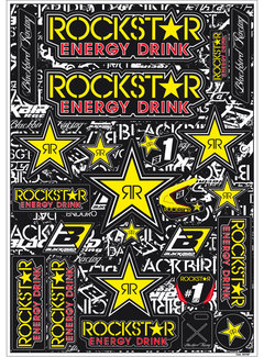 Blackbird Racing Aufkleber Rockstar Energy Kit universal