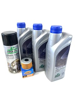 Rockoil Ölwechselset Quad Adly Hurricane 450 / 500 Service 3 x Liter Öl + Filter + Kettenspray