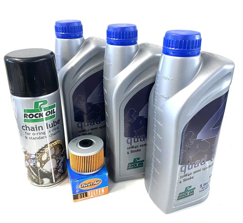 Rockoil Ölwechselset Quad SMC Trasher Canyon 500 / 520 Service 3 x Liter Öl + Filter + Kettenspray