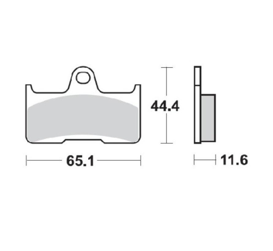 Bremsbelege Bremsklötze hinten 098121