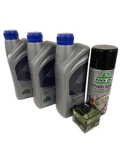 Rockoil Ölwechselset Quad Service Motoröl Filter Kettenspray Arctic Cat DVX400 / Suzuki LTZ400 / Kawasaki KFX400