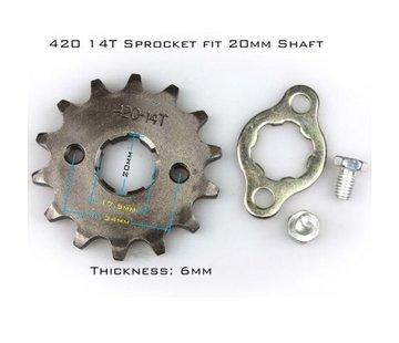 Actionbikes Mini Quad 110cc / 125cc Ritzel (420x14 Zähne ) ( S-12 , S-10 , S-14)