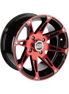 Moose Utility 387X Wheels - Machined  Alu Felgen rot