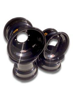 Goldspeed Quad Felgensatz Aluminium schwarz 10x5 / 9x8