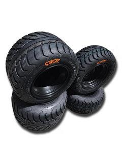 VBW - tires Komplettreifensatz Silber Dream schwarz Alufelgen mit Maxxis Spearz