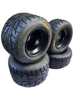 VBW - tires Komplettreifensatz Silber Dream schwarz Alufelgen mit Maxxis CST Stryder