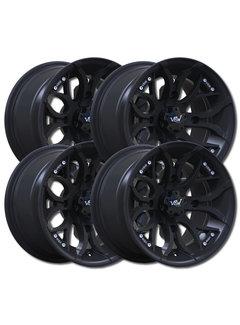 "VBW - tires A2 ATV 12"" Alufelgen Satz schwarz matt 12x7 & 12x8 Lochkreis 4x110"