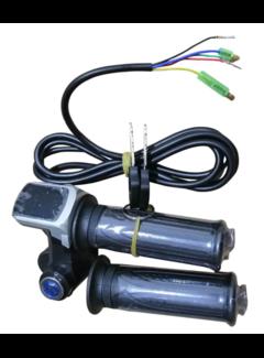 Solido Gasgriff für Elektrische Kinderquads / E-Scooter uvm. mit LED Ladeanzeige und Zündschlüssel