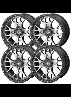 Moose Utility 545X ATV Felgensatz Wheels - grau satin