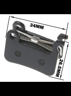 Solido Beremsbelege - Bremsklötze für Shimano M445 355 395 Dirtbike Tiger 1300W - Elektroscooter