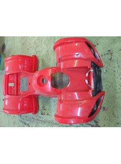 Verkleidungsteil für S-8 Farmer Kinderquad in rot mit Scheinwerfer