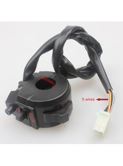 Wingsmoto Motorcyle Right Switch Assy Throttle Clamp Aluminium 5 Wires Dirt Pit Bike
