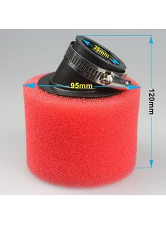 Wingsmoto 35mm Bent Foam Air Filter Cleaner for 50cc 70cc 90cc 110cc ATV Dirt Pit Bike