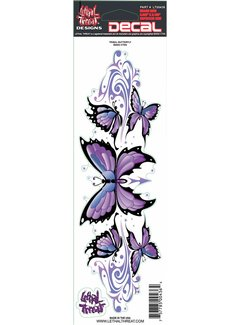 Lethal Threat Sticker Purple Butterfly LT00436
