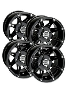 Moose Utility Felgensatz 387X Wheels - Black 14 Zoll