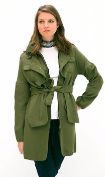 Khaki Green Trenchcoat