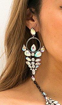 Bohemian zilveren statement oorbellen