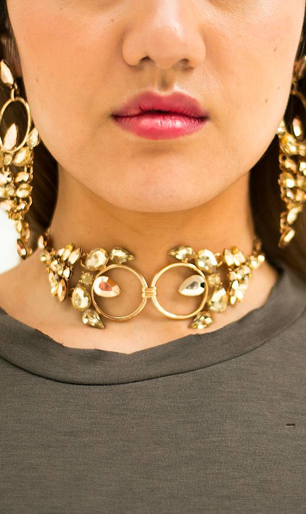 Bohemian golden statement choker