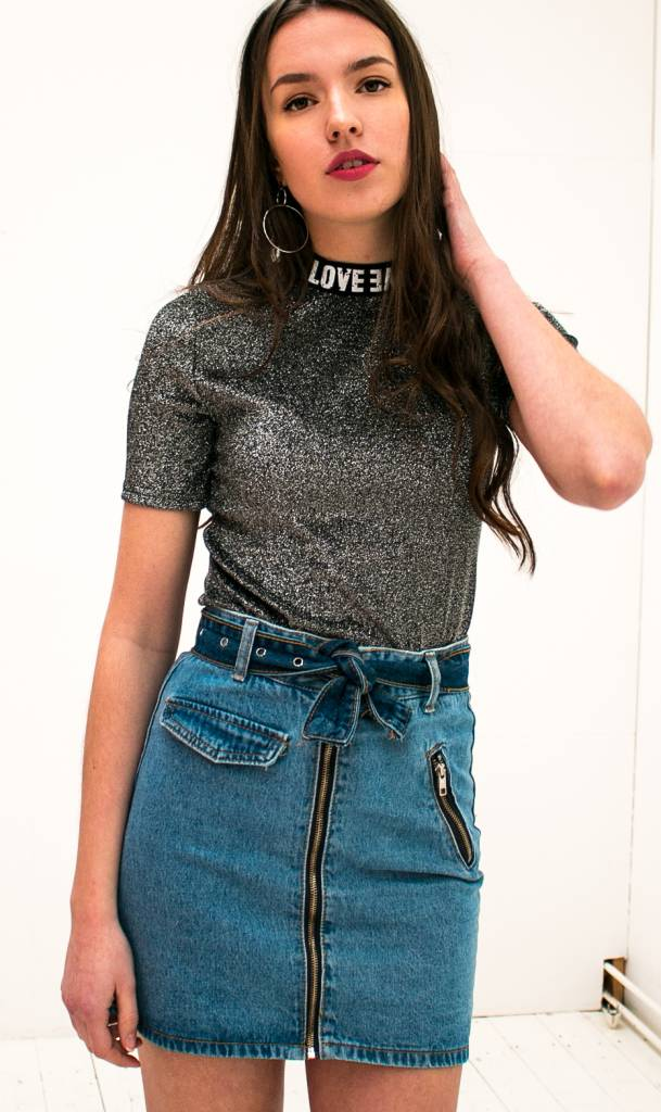 Glitter T-shirt Grey