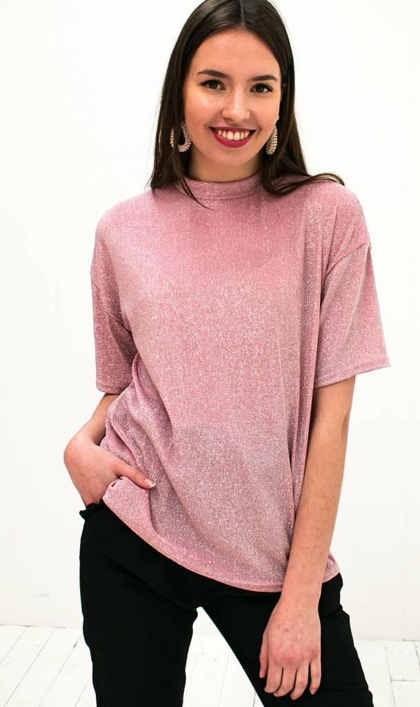 Roze glitter t-shirt