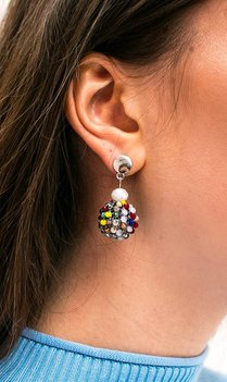 Round colored earrings
