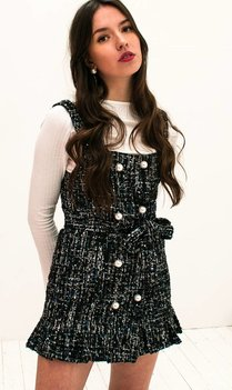 Chanel Inspired Tweed Dress