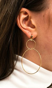 Round golden Earrings