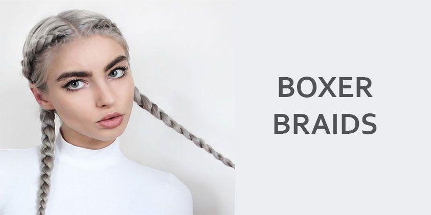 Haar inspiratie: de boxer braids!