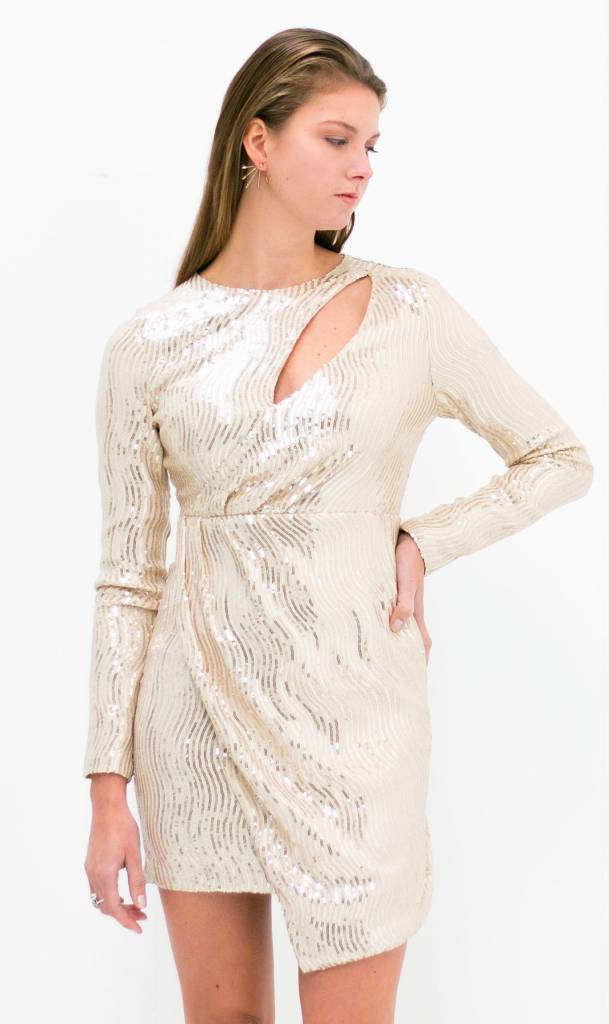 White Gold Sequin Dress