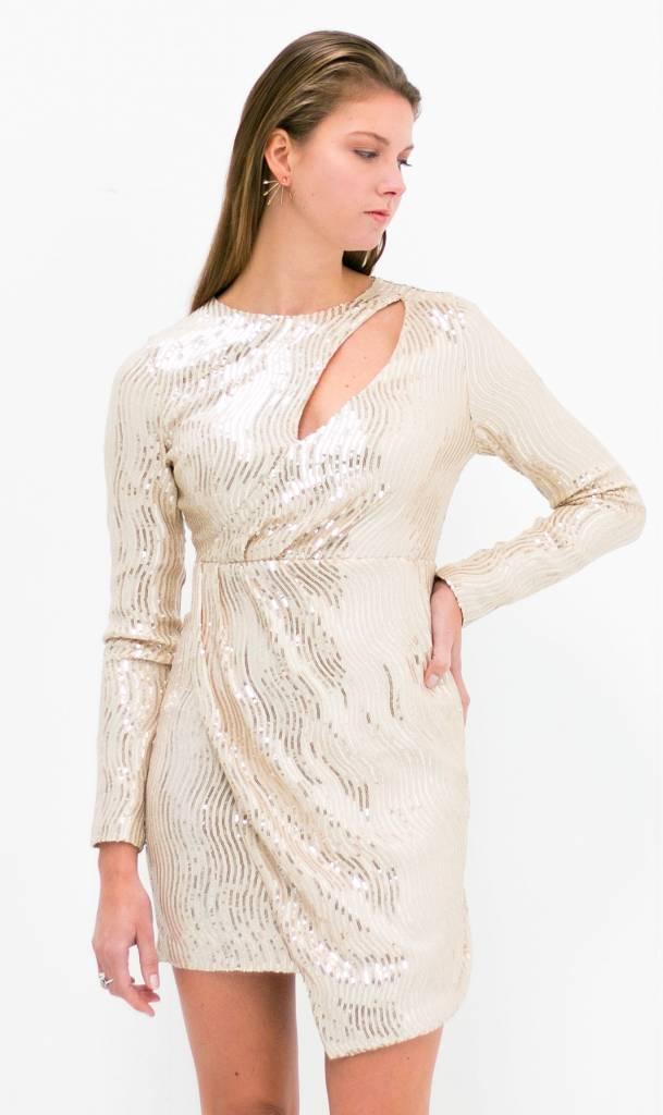 Wit gouden pailletten jurk