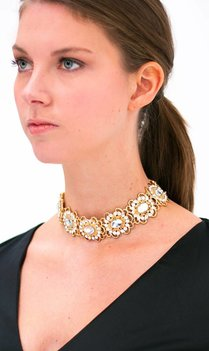 Statement Gold Crystal Choker